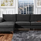 Modern Velvet Fabric Sectional Sofa