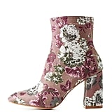 Charlotte Russe Floral Brocade Ankle Booties