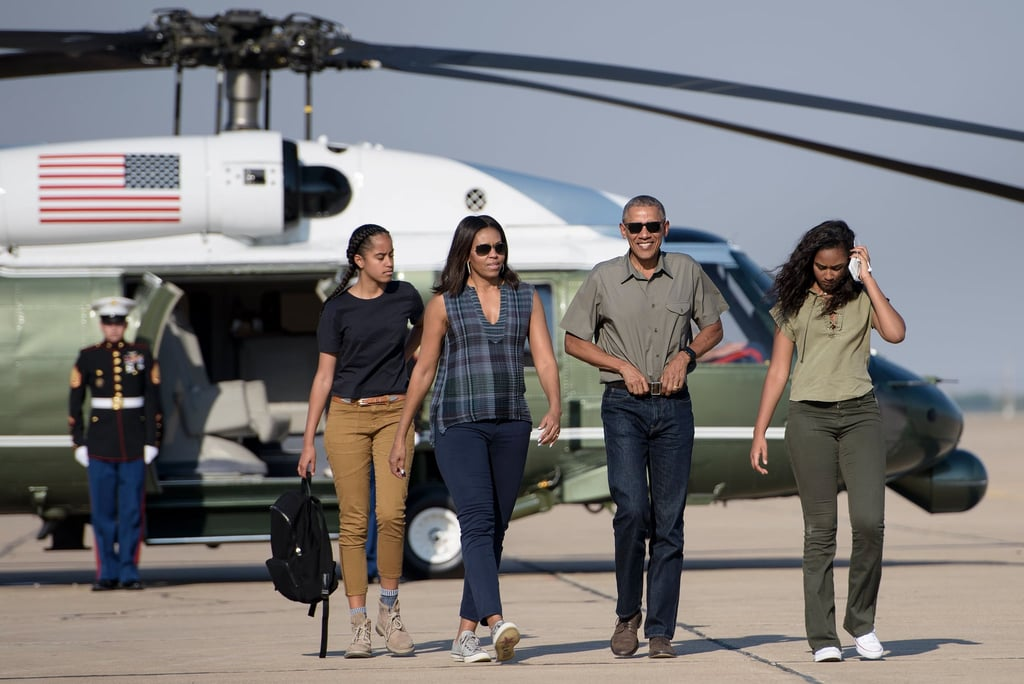 The Obama family looked primed to explore while celebrating the 100th anniversary of the creation of America's national park system in New Mexico, and we're not sure if Barack has ever looked more dad-like.