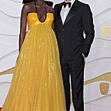 Jodie Turner-Smith and Joshua Jackson at the 2020 BAFTAs in London