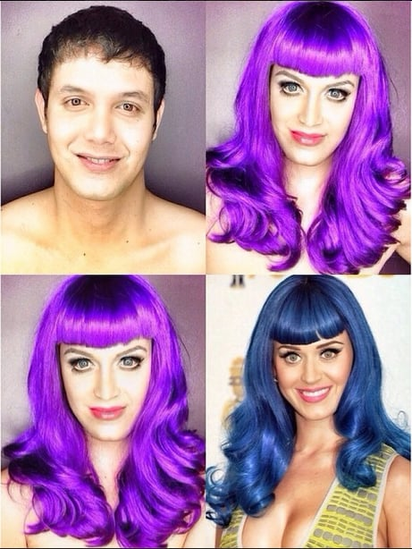See a Man Transform Into Katy Perry, Rihanna, and More With Makeup