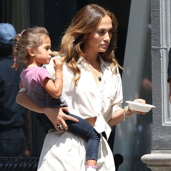 Pictures of Jennifer Lopez Filming Her Music Video