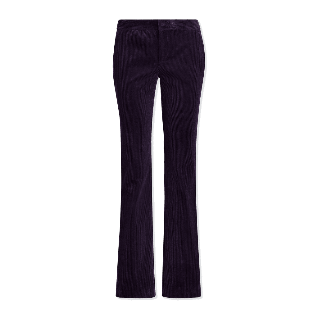 Corduroy Cotton Straight-Leg Pants