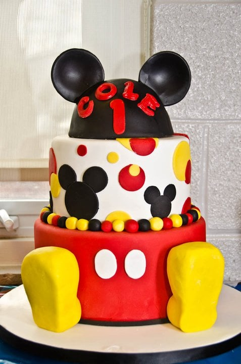 Mickey Mouse Fondant Cake Unique Birthday Cakes For Baby And