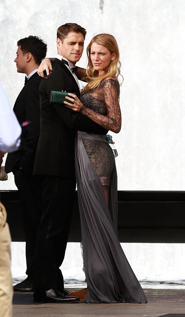 Blake Lively and Sam Page Filming Gossip Girl in New York