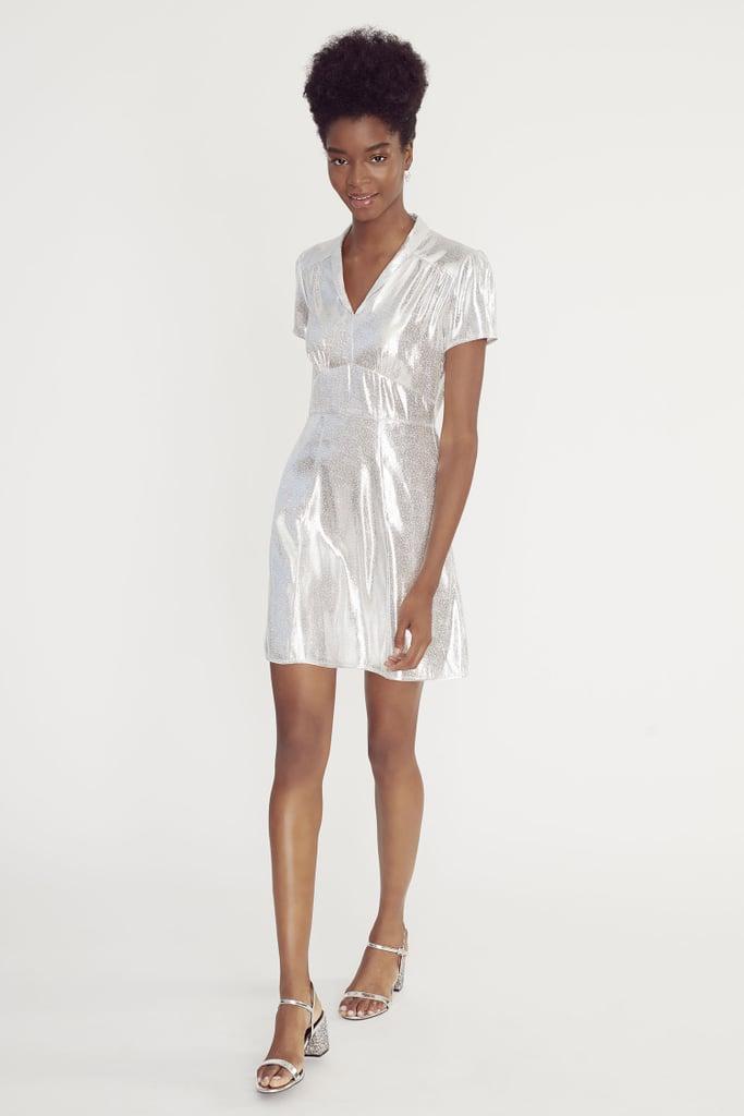 My Pick: HVN Metallic Silver Mini Morgan Dress