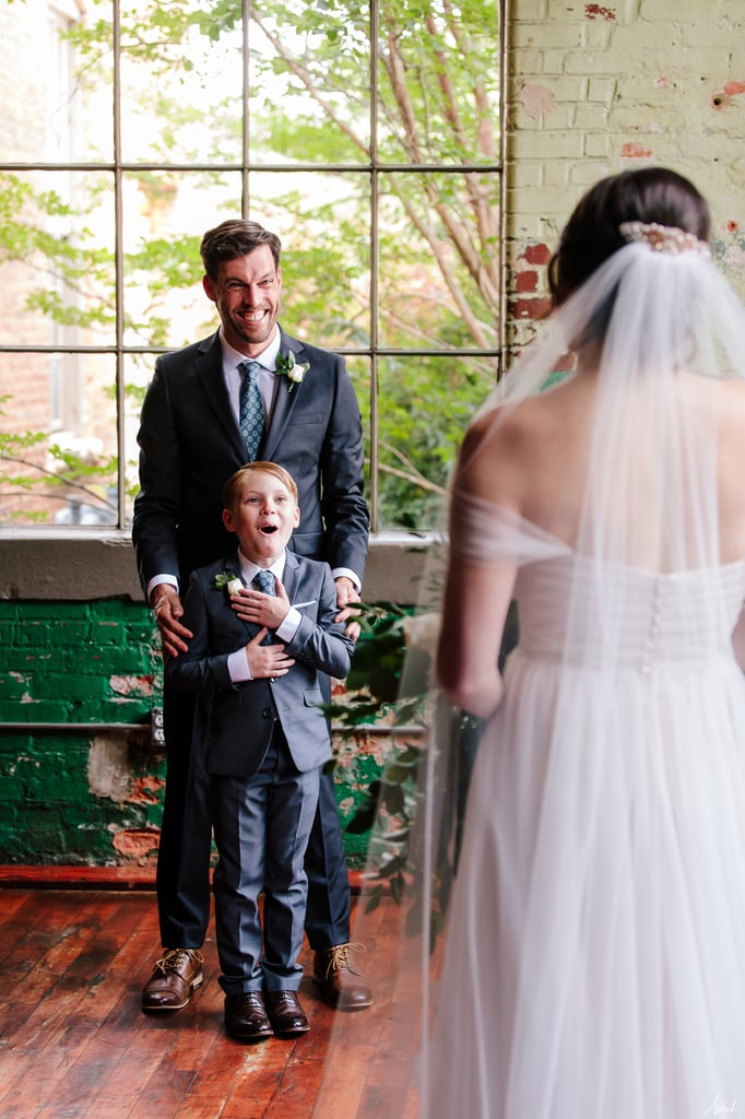 Sweet Photos of a Bride Giving Her New Stepson Wedding Ring