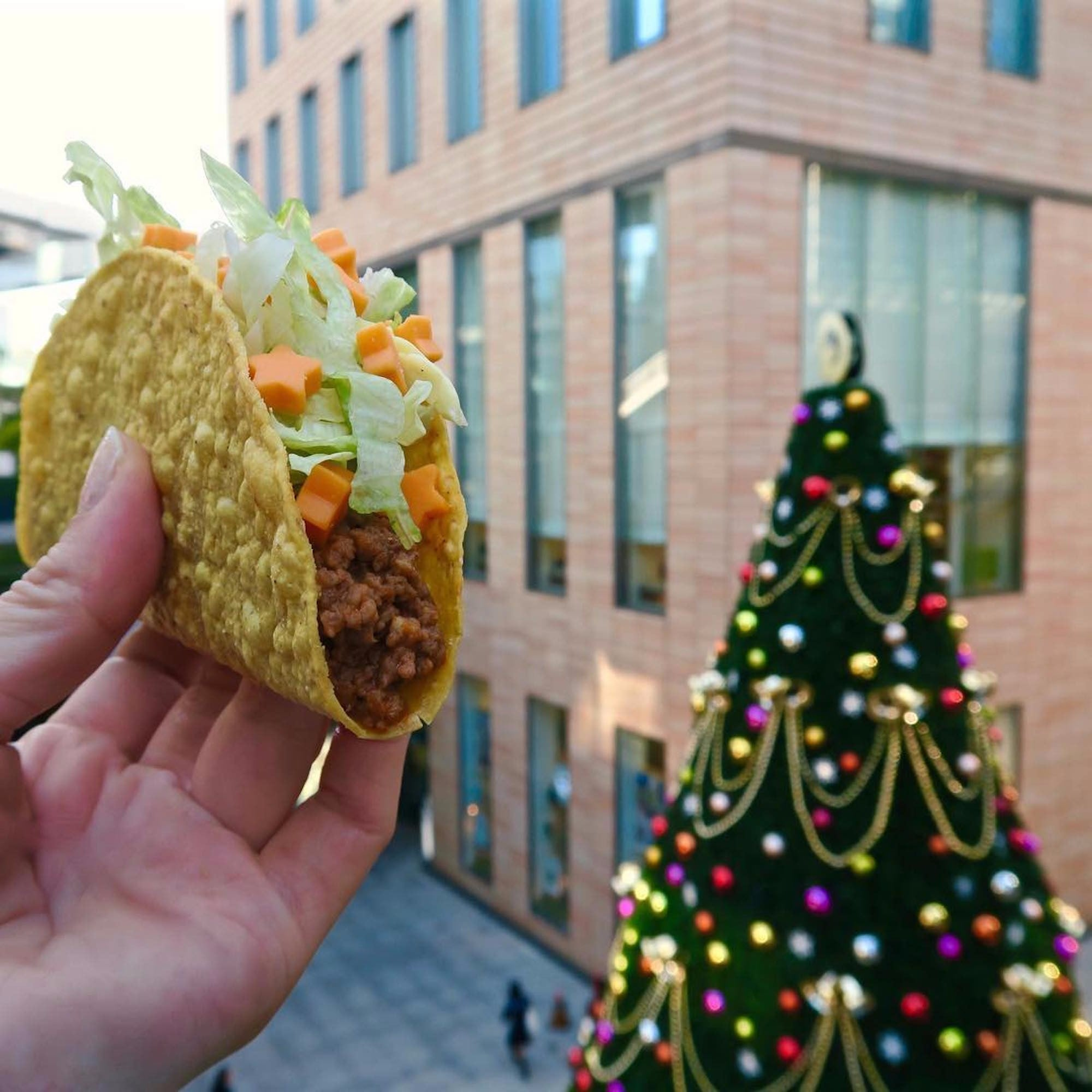 Is Taco Bell Open On Christmas.Star Shaped Cheese At Taco Bell Japan Popsugar Food