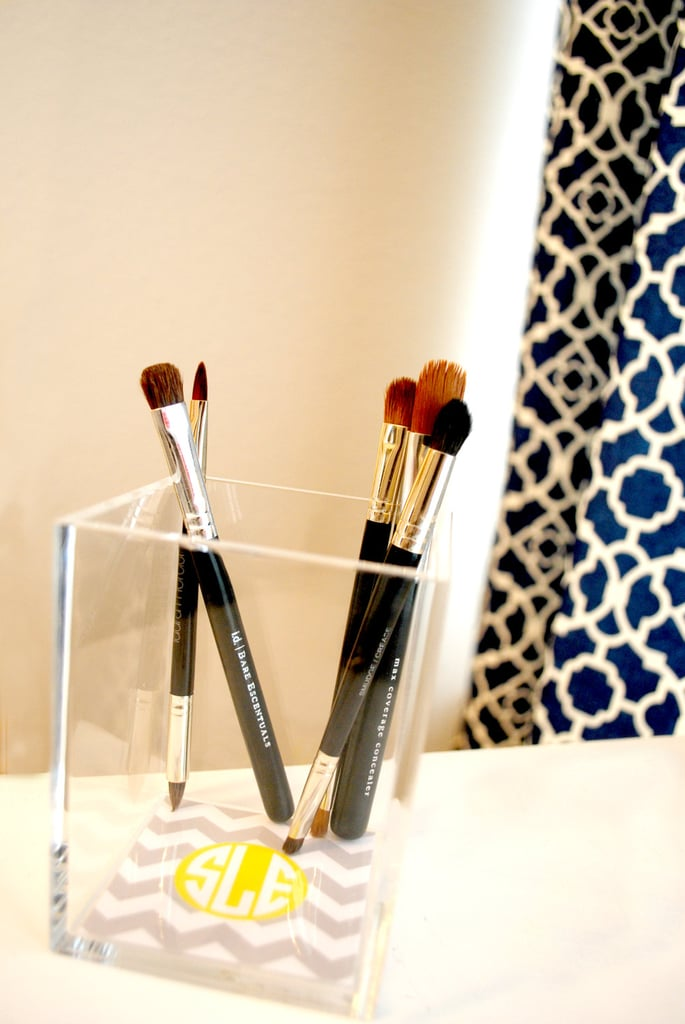 For the makeup-brush-lover in your life, gift them a holder with a personalized touch, like this personalized acrylic brush holder ($15). You can pick the design, color scheme, and initials for a completely unique gift.