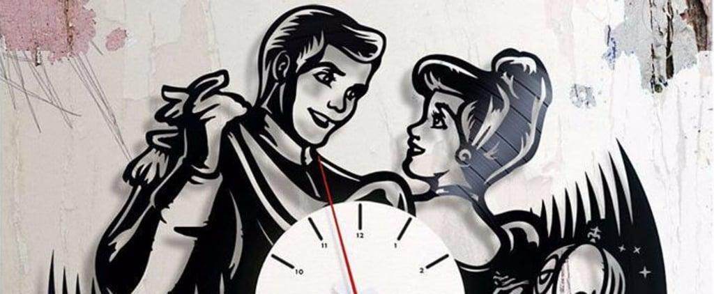 Vinyl Disney Clocks on Etsy