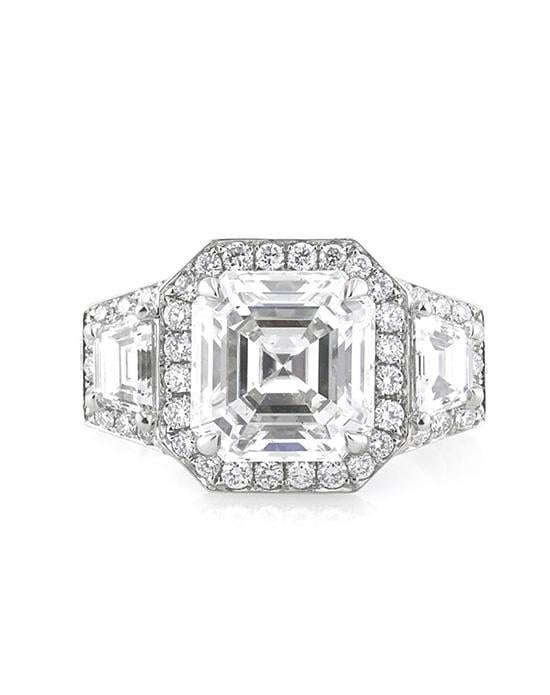 4.53ct Asscher Cut Diamond Engagement Ring, Price Available Upon Request