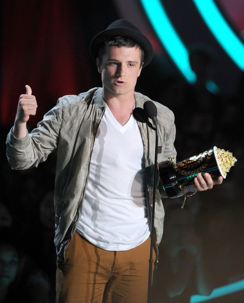 Josh Hutcherson went with a casual look for the MTV Movie Awards.