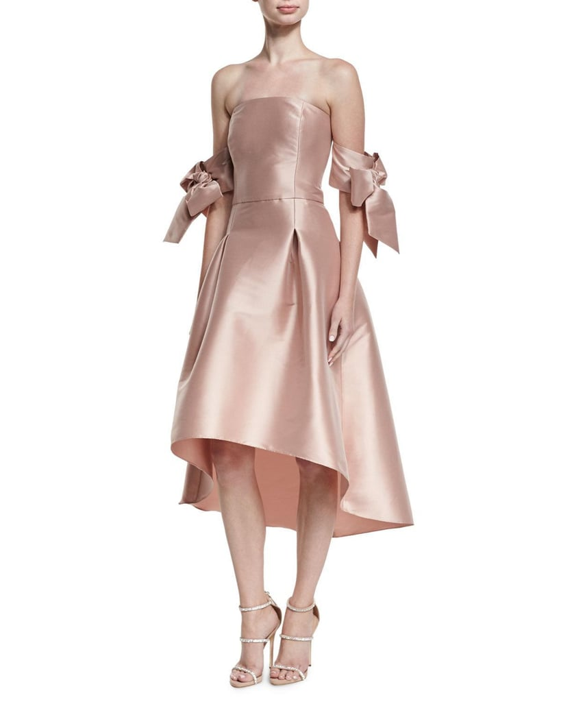 Sachin + Babi Vani Strapless Bow-Sleeve Fit-and-Flare Cocktail Dress ...