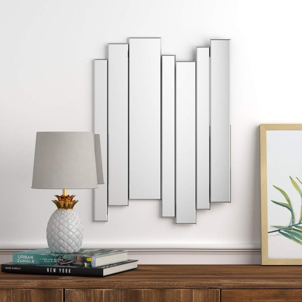 Rivet Modern Glass Mirror