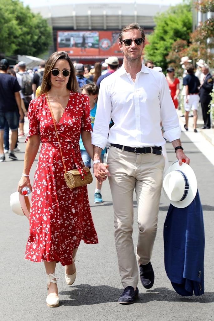 Pippa Middleton Red Ralph Lauren Dress