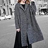 YOU.U 2017 Bouclé Tweed Fall Women Faux Wool Coat