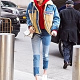Gigi Hadid Will Convince You to Buy Those Trendy Patchwork Jeans — If You Haven't Yet