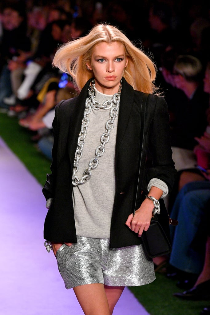 Stella Maxwell on the Brandon Maxwell Runway at New York Fashion Week