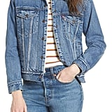 Levi's Ex-Boyfriend Faux Fur Lined Denim Jacket