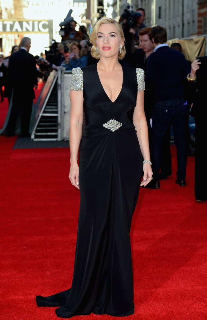 We love the curve-hugging, totally flattering fit of her Jenny Packham dress.