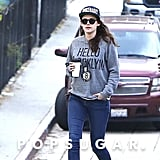 Kristen Stewart walked through the streets of LA.