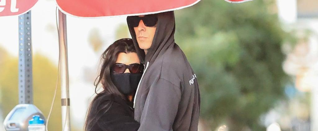 Kourtney Kardashian Cuddles Up to Travis Barker in LA