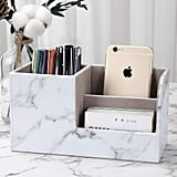 Kingfom Pu Leather Desk Organizer