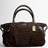 Coach Madison Embossed Suede Large Sophia Satchel ($598)