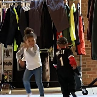 Kanye West's Son and Chance the Rapper's Daughter Dancing