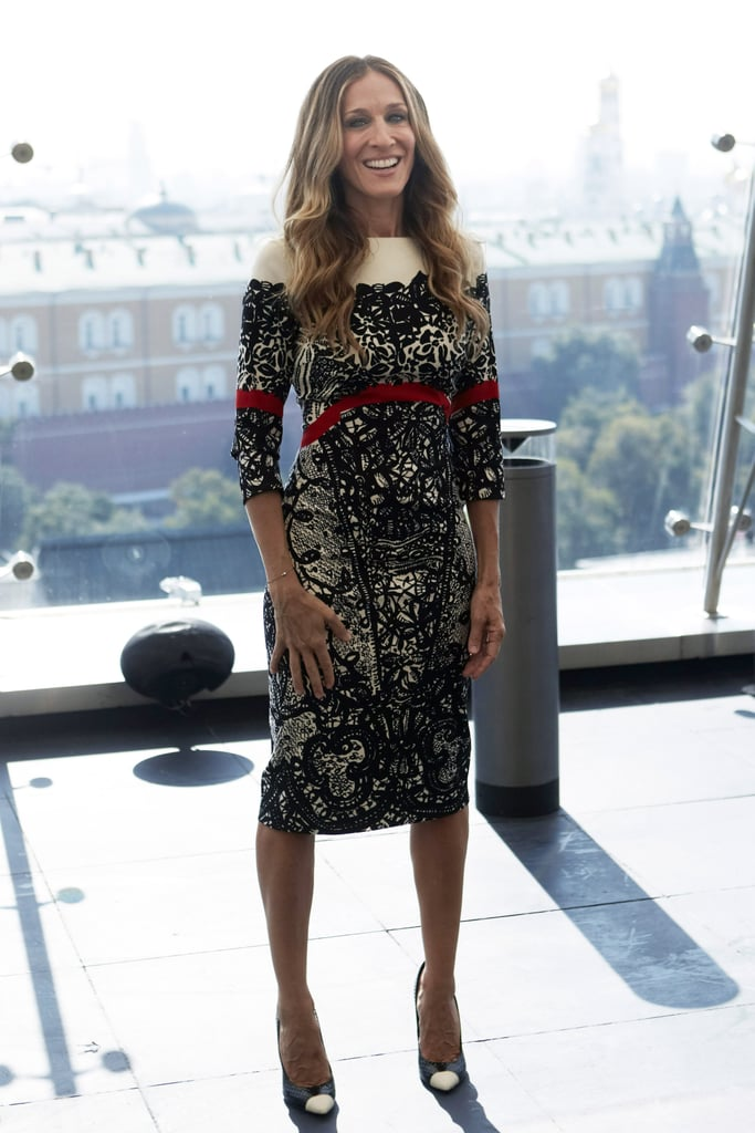 Sarah Jessica Parker in Prabal Gurung at I Don't Know How She Does It Moscow photo call.