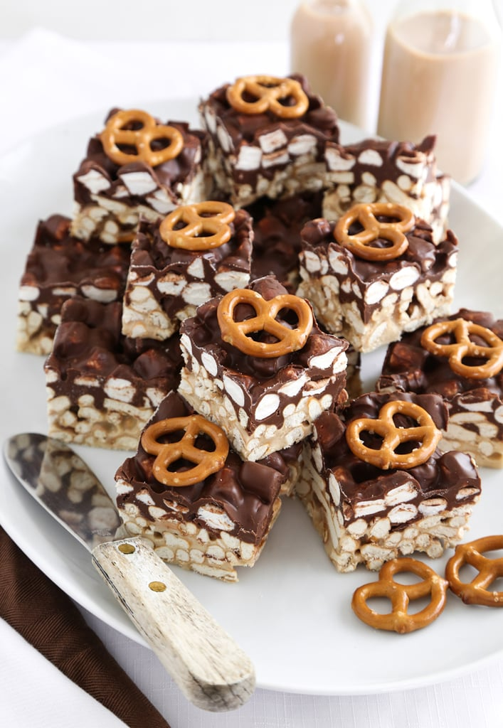 Salty Peanut Butter Marshmallow Pretzel Treats