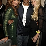 Gwyneth met up with her good friends Beyoncé Knowles and Jay Z after his September 2006 concert in London.