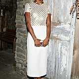 Genevieve Jones was white hot in Burberry's studded sheath at the label's acoustic Tom Odell performance.