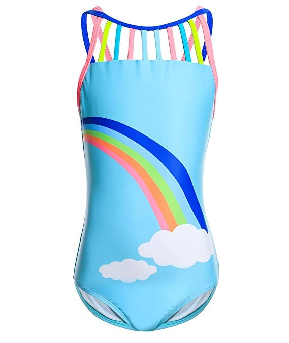 AmzBarley Girls Unicorn Two-Pieces Bikini Set Swimwear Swimsuit Kids Rainbow Tankini Beach Bathing Suit 2-10 Years