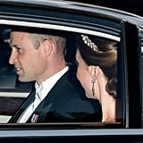 Kate Middleton and Prince William Arriving at the State Banquet