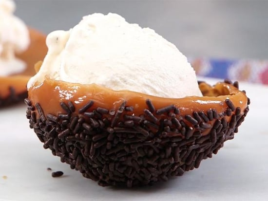 All You Need Is a Balloon to Make These Salted Caramel Edible Ice Cream Bowls