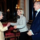 Zara and Mike Tindall shared a laugh with the queen at an event back in 2007.