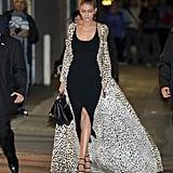 Gigi Hadid's Leopard-Print Roberto Cavalli Coat   Nov. 2016