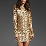This cocktail dress reminds us of a Balmain mini — at a fraction of the price.  Style Stalker Richie Rich Dress in Gold ($289)