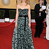 Claire Danes played the role of the romantic in her floral Louis Vuitton, adding a little girliness to it with a pink manicure.
