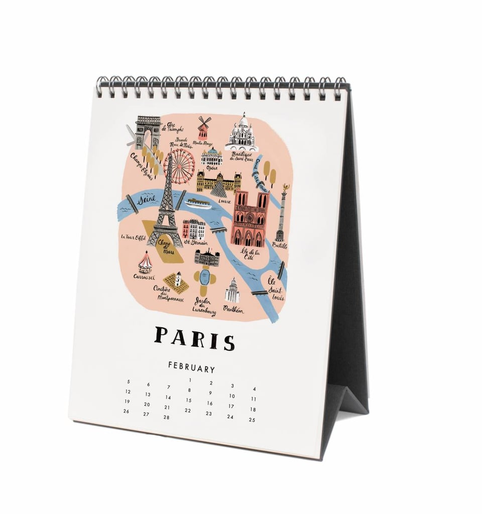 Rifle Paper Co Maps Desk Calendar 16 Best Desk