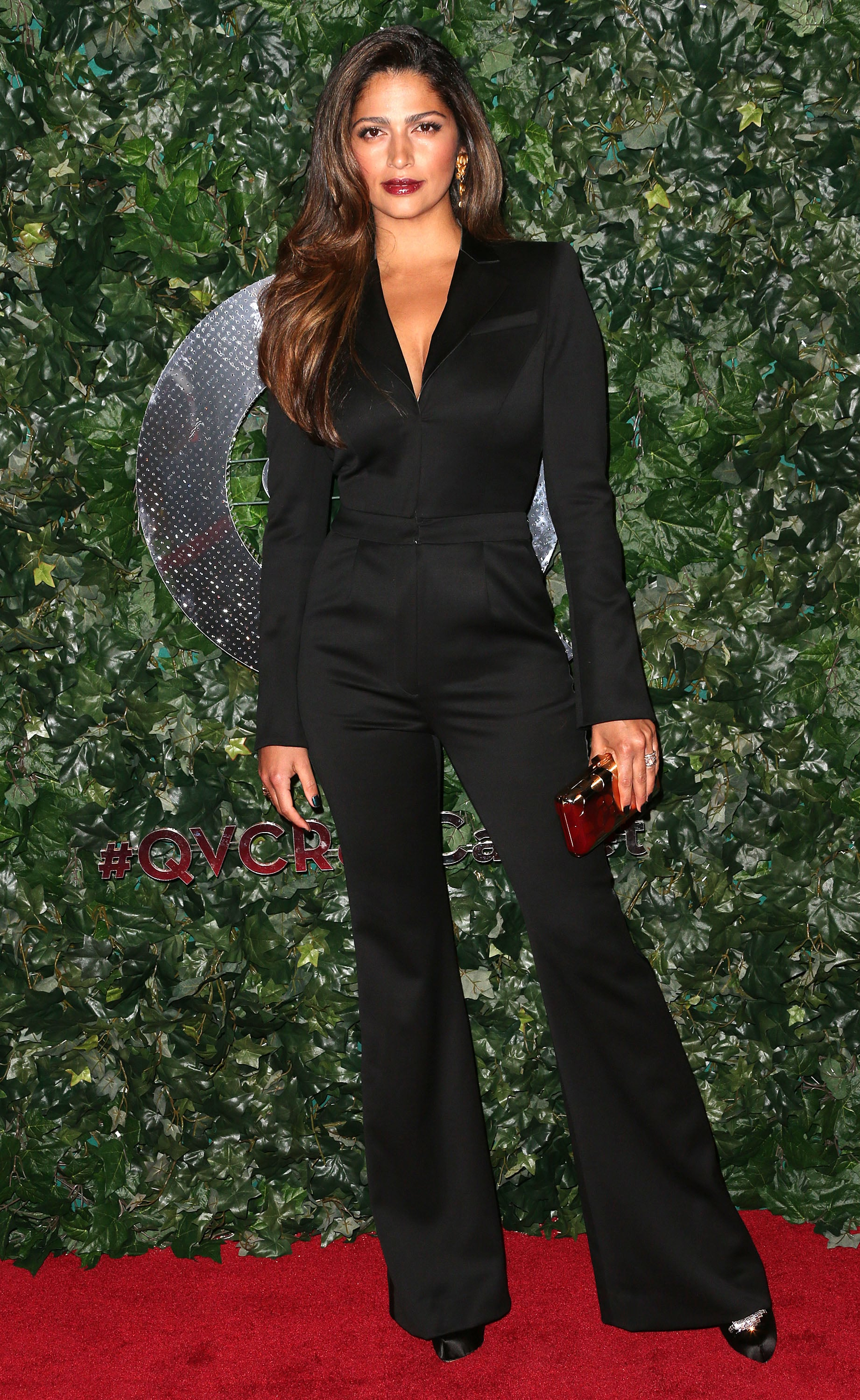 Camila Alves attended QVC's Red Carpet Style event at the Beverly Hills Four Seasons Hotel.