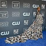 Cynthia Erivo's Critics Choice Awards Dress Is Mesmerizing