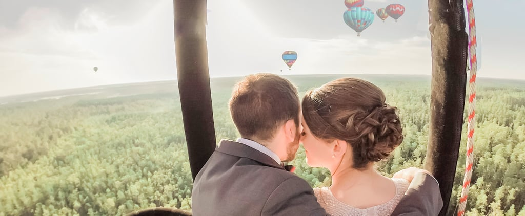 This Couple's Hot Air Balloon Elopement Couldn't Be Any More Romantic