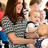 Prince George bear a striking resemblance to William.