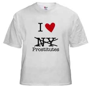I Love NY T-Shirt (Eliot Spitzer Version)