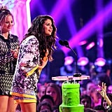 Selena Gomez accepted the award for favourite female singer