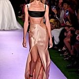 Candice Swanepoel on the Brandon Maxwell Runway at New York Fashion Week