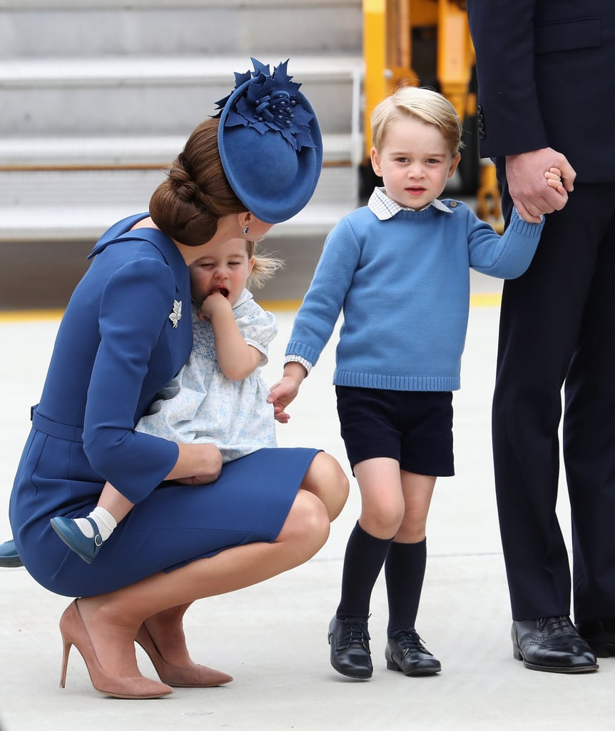 When She Held on to Charlotte and Spoke to George After Landing in Canada in September 2016
