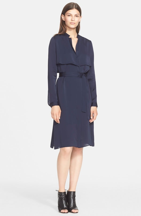 AYR's trench ($325). The bonus? It's actually a dress, but I suspect it will look even cooler unfastened over a fitted tank dress.  — HM